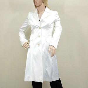 Banana Republic Small Dress Trench Coat White